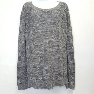 Ann Taylor Cotton Gray Chunky Sweater